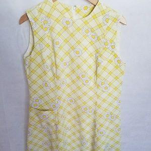 Women's 1960s Homemade Daisy Dress